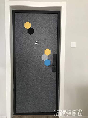 KONGRMB deur naar deur houten graan aangepaste deur Sticky voelde anti-diefstal deur geluid isolatie zelfdecoratie Retrofit Sticker voelde Scandinavisch