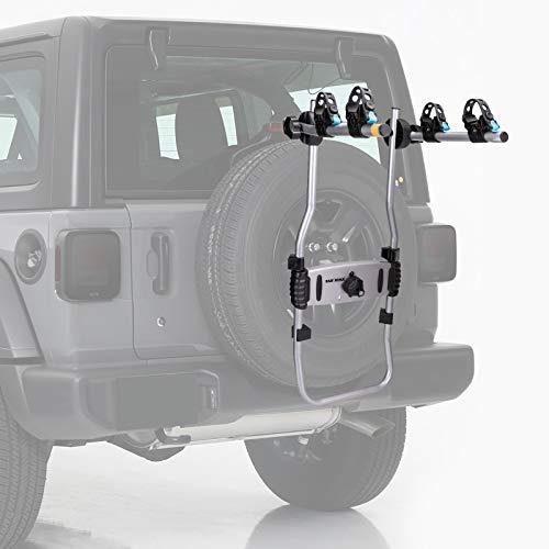 BUNKER INDUST 2-Bike Spare Tire Rack Adjustable Bolt-On Spare Tire Rack,75 lb. Capacity Spare Tire...