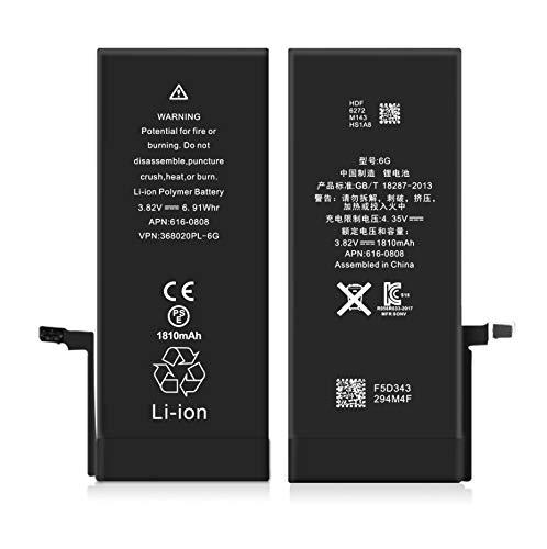 Pro-Mobile Ersatz Akku für Original Apple iPhone 6/6G 1810 mAh inkl.Klebestreifen und Reperaturwerkzeugset Batterie Battery Handy Accu iPhone 6 / 6G