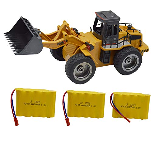 Blomiky 1:18 Scale 520 13.7' Alloy 2.4G 6 CH RC Tractor Full Functional Front Loader Remote Control Bulldozer Truck Toy Gift for Boy Kids Extra 2 Battery 1520