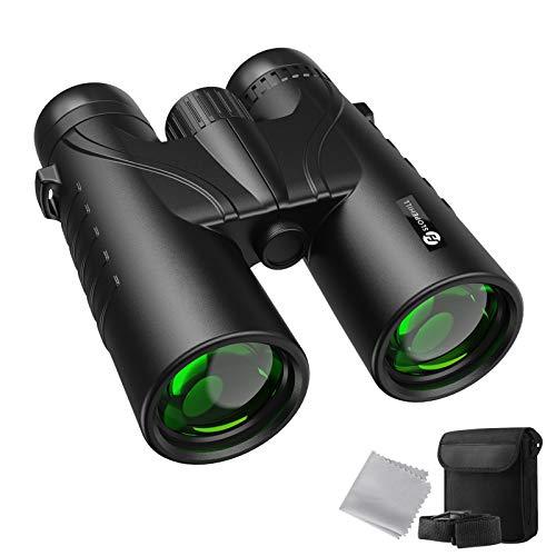 Fernglas Slopehill HD Fernglas12x42 Ferngläser kompakt für Erwachsene und Kinder IPX7 Wasserdichtes Fernglas mit BAK4 Prism und Multiple FMC-Lens Coating für Vogelbeobachtung, Wandern, Sport