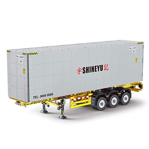 Technic Juego de remolque para camión – 1529 bloques de terminales Kit de bloques de construcción compatible con Lego Technic Truck (contenedor)
