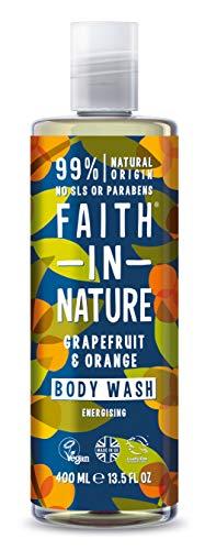 Faith in Nature - Duschgel 100% natürlich mit Grapefruit und Orange - Für alle Hauttypen - Ohne Sulfate - Ohne Paraben - Vegan