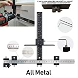 Valiant Cabinet Hardware Jig | Drawer Knobs and Pulls Template Tool for Drilling Holes on Wood | Adjustable Drill Guide Tools for Doweling, Boring and Mounting Door Handles (ALL Aluminum)