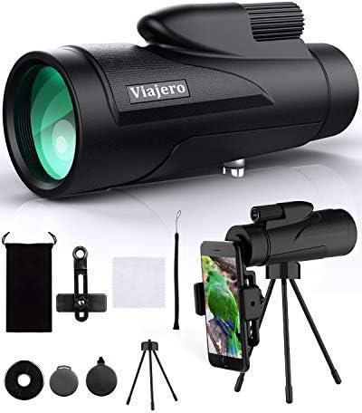 Viajero 12X50 Monocular Telescope High Power Monocular with Smartphone Holder Tripod Day Low product image