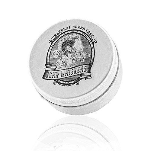 John Whiskers Bartwachs Made in Germany - natürliches & veganes Bart Balsam - süßlich herber Duft - für einen gepflegten & geschmeidigen Bart