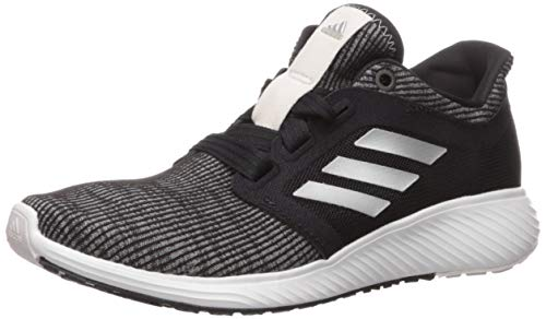 adidas Women's Edge Lux 3 Running Shoe, Black/Silver Metallic/Orchid Tint, 9 M US