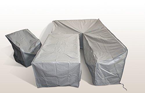 Ragnarök-Möbeldesign Gartenmöbel Schutzabdeckung Schutzhülle für Modell DS-23 Dinning Sofa Husse schwere LKW Plane Maßgefertigt 3Teilig