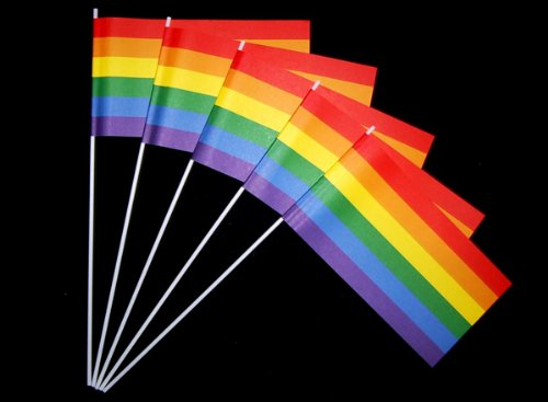 Everflag Papierfähnchen: Regenbogen 50er Packung