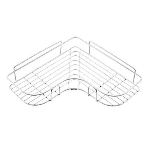 DOROCH Estanterías Lluvias Estante de baño Estante de Mátil Almacenamiento de Metal Acero Inoxidable Punch-Free Firma Cocina Pinchada Mural Muro de Muro Organizador Rack (Color : White)