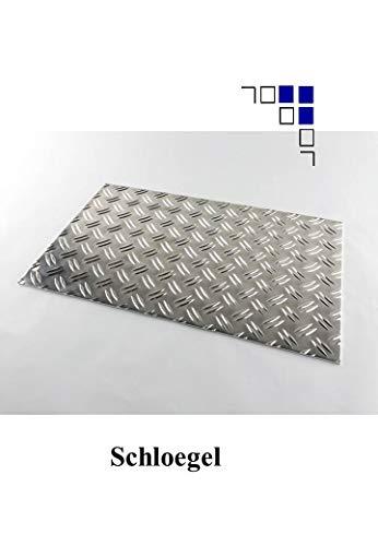 2,5/4mm Aluminium-Riffelblech 700x300