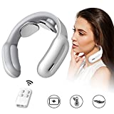 Neck Massager, HUNNAY Neck Relax Cordless Massager with Heat, 3 Modes 15 Levels Intelligent Portable Trigger Point Neck Massage Electric Pulses for Men and Women