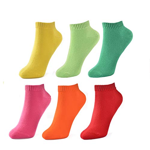 3 Pairs, SocksOne Colorful No Show Socks For Women -$7.38(59% Off)