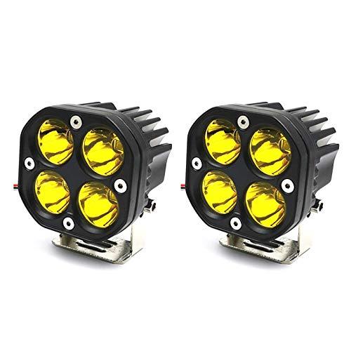 Luces LED de Conducción Todoterreno, 40W 3 Pulgadas LED Pods Light Compatibles para Wrangler Off Road 4x4 Auto Car Jeep Truck ATV UTV Barco Motocicleta (Luz Amarilla,2 Piezas)