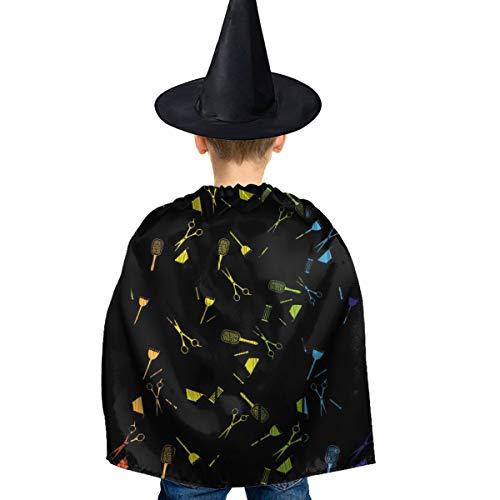 Amoyuan Unisex Kids Kerstmis Halloween Heks Mantel Met Hoed Kapper Kapsel Tool Wizard Cape Fancy Jurk