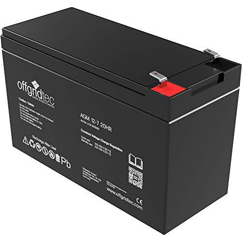 Offgridtec 2-01-001000 7Ah Akku C10 AGM Solar Batterie für zyklische Anwendungen, 12 V