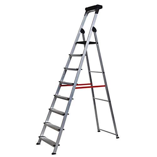 Escalera Ancha de Aluminio ELITE PLUS (8 Peldanos). BTF-TJB408