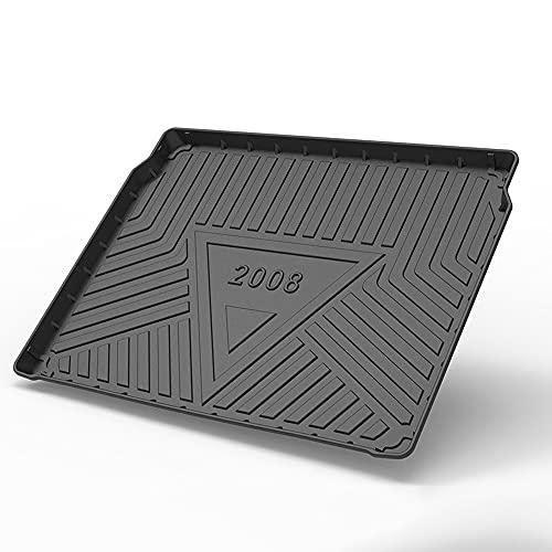 Tapis De Coffre pour Peugeot 2008 2020, Caoutchouc Robuste Tapis De Plateau Doublage ImperméAble Et AntidéRapant Tapis De Sol Bac De Protection Auto Accessoires