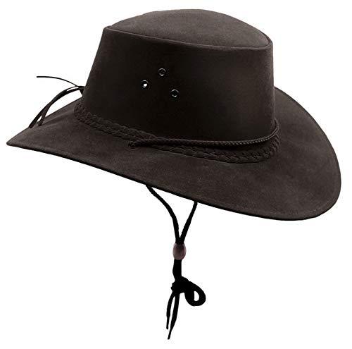 Kakadu The Soaka Chapeau de soleil d'été en microfibre légère - Noir - Medium