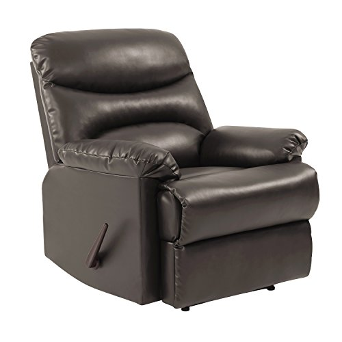 ProLounger Wall Hugger Recliner Chair in Coffee Brown Renu