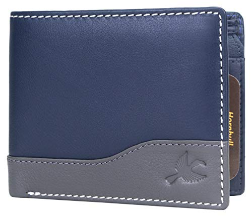 Hornbull Buttler Navy Mens Leather Wallet – Premium Quality Leather Wallet for Mens & RFID Blocking Genuine Leather Mens Wallet