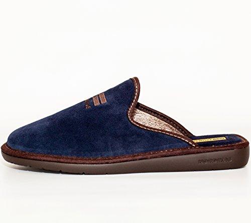 Nordikas, 236, Chinela paño azul marino de Hombre, talla 42