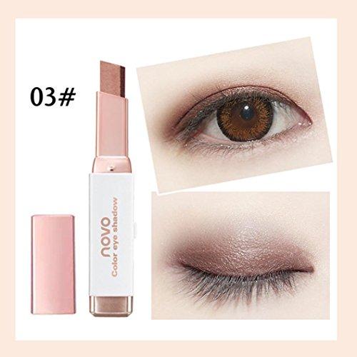 Coloré(TM) Palettes de maquillage Nouveau dégradé bicolore ombre à paupières Stick Shimmer Palette Eye Cream Pen (C)