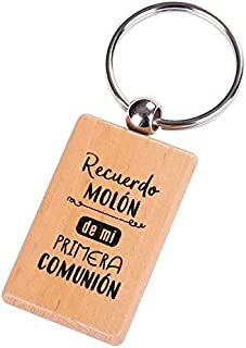 Lote de 20 Llaveros Madera 1ª Comunión con Frase Recuerdo MOLÓN - Llaveros Originales, Detalles, Regalos y Recuerdos de Comuniones