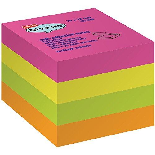 Haftnotizwürfel 4x 100 Blatt 4-fbg. 76x76mm VE=1