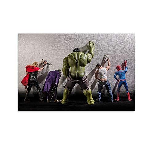 TOUKUI Super Heróis Da Marvel Poster dekorative Malerei Leinwand Wandkunst Wohnzimmer Poster Schlafzimmer Malerei 12x18inch(30x45cm)