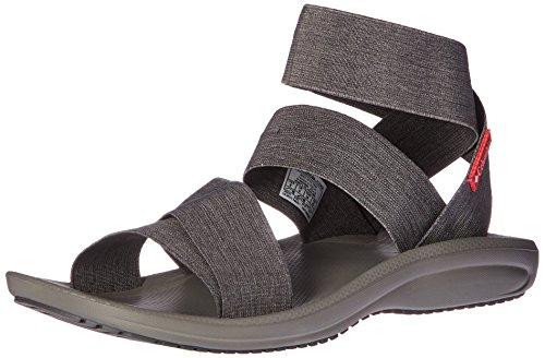Columbia Femme Sandales, BARRACA STRAP, Gris (Dark Grey, Wild Salmon), Pointure: 37