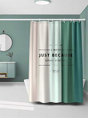 Xlabor Farbverlauf Duschvorhang 240x200cm Wasserdicht Anti-Schimmel Stoff inkl. 12 Duschvorhangringe für Badezimmer Motiv-D 180x200 cm