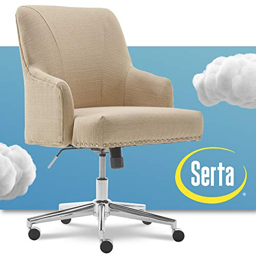 Serta Leighton Home Office Memory Foam, Height-Adjustable Desk...