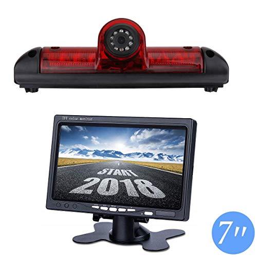 Auto Dritte Dach Top Mount Bremsleuchte Kamera (E-Mark-Zulassung) Bremslicht Rückfahrkamera für Citroen Jumper/FIAT DUCATO X250 / Peugeot Boxer +7.0
