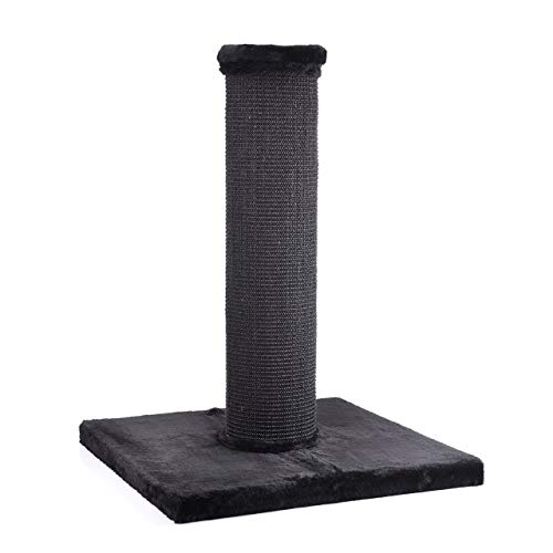 CanadianCat Company ® | Scratchpost XXL | Schwarz | ca. 19cm Säulendurchmesser | große Katzen | Sisal