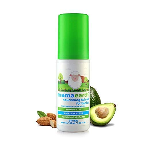 Mamaearth Nourishing Hair Oil for Babies 100ml (0-10 Years)