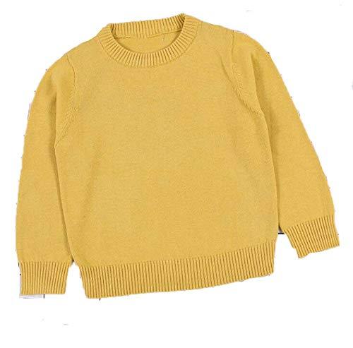 Guy Eugendssg Autumn Baby Boys Girls Sweaters Kids Sweaters Winter Boys Knit Sweater Girls Ripped Sweater Toddler Dark Yellow 12M