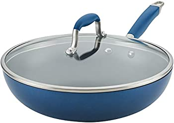 Anolon 12 Inch Advanced Home Hard Anodized Nonstick Pan with Lid