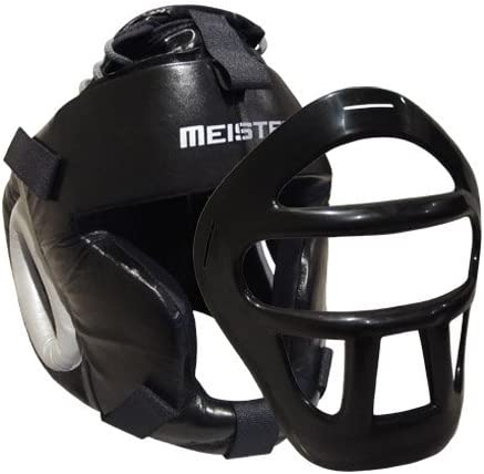 Leather Head Guard w Removable Face Headge Mask for Max 61% Sale Special Price OFF Boxing MMA