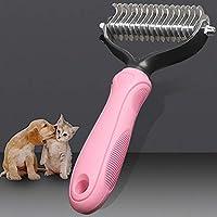 脱毛犬猫 Detangler 毛皮トリミング Dematting Deshedding ブラシマットのためのロングヘアカーリーペット