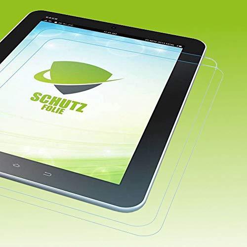 Wigento 2X Bildschirmschutzfolie Folie für Samsung Galaxy Tab A7 T500 / T505 2020 LCD Zubehör + Poliertuch Screen Protector