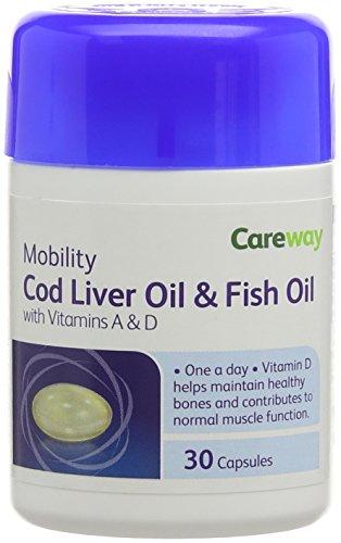 Careway 500 mg Cod Liver Oil Tablets - Pack of 180