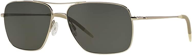 Olicer Peoples Clifton OV1150S Squared Aviator Double Bridge Sunglasses