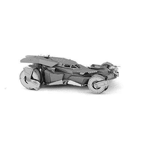 Metal Earth - Fascinations, BATMAN V SUPERMAN BATMOBILE Rompecabezas de metal 3D, modelos de corte por láser, 3D metal Puzzle