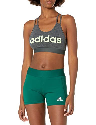 adidas womens Essentials Bra Top Dark Grey Heather Medium