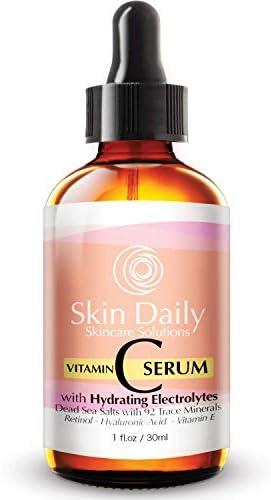 Antioxidant Vitamin C Serum for Face Infused with Electrolytes Hyaluronic Acid Retinol 1 oz product image