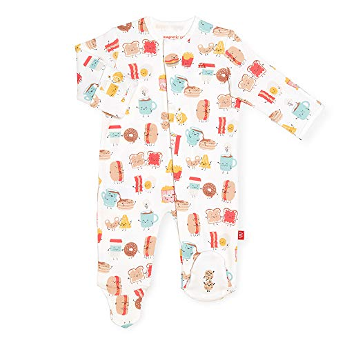 Magnetic Me Footie Pajamas 100% Organic Cotton Baby Sleepwear Quick Magnetic Fastener Sleeper Better Together 9-12M