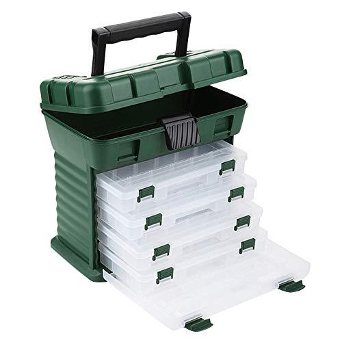 TOOGOO 6 Schicht PP + ABS Gro?E Angeln Kunststoff Angehen Box Griff wasserdichte Lagerung K?Der Box Karpfen Angel Zubeh?R