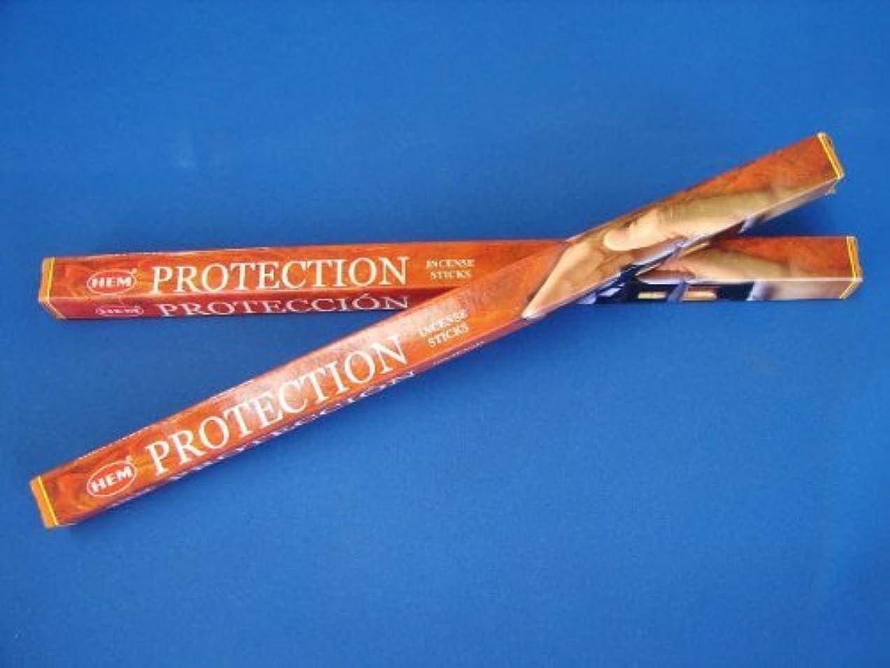 薬用寛容なあいにく4 Boxes of HEM Incense Sticks - Protection