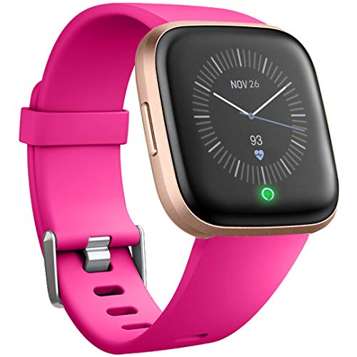 Ouwegaga Compatible with Fitbit Versa 2 Bands Versa Lite Bands Straps Small Rose Pink